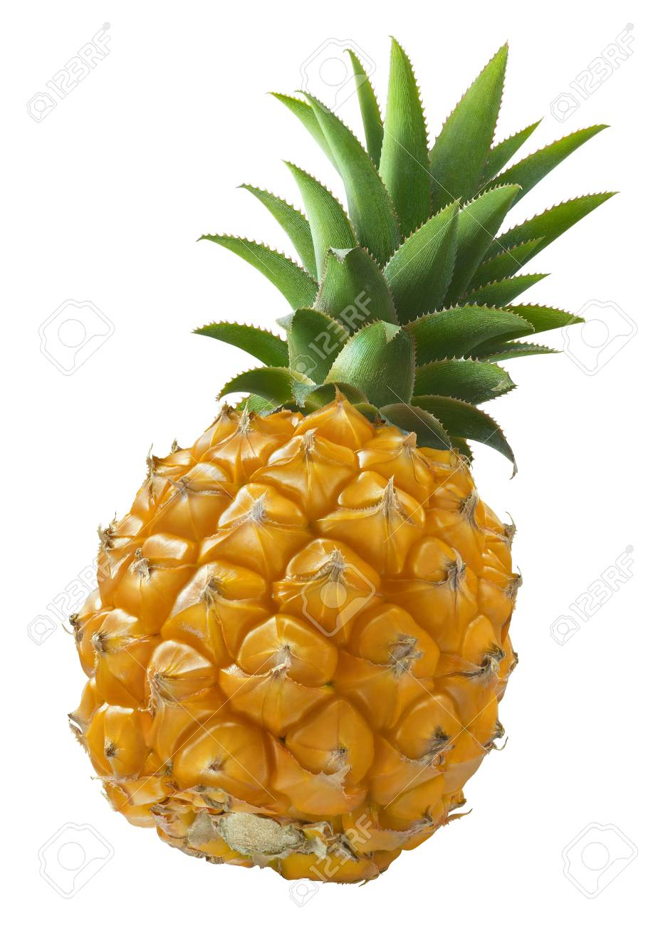 Mini pineapple angle isolated on white background as package design element - 82650652