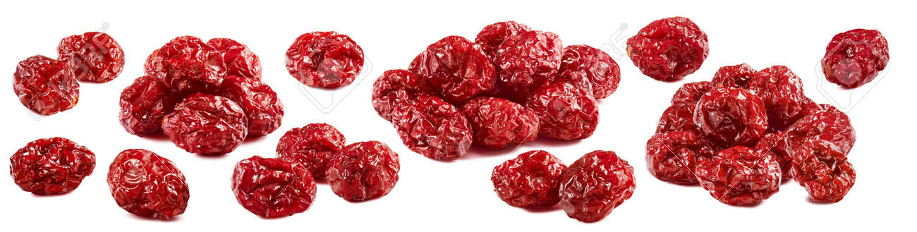 Dried cranberry collection isolated on white background. Package design elements with clipping path. Full depth of field - 169971629