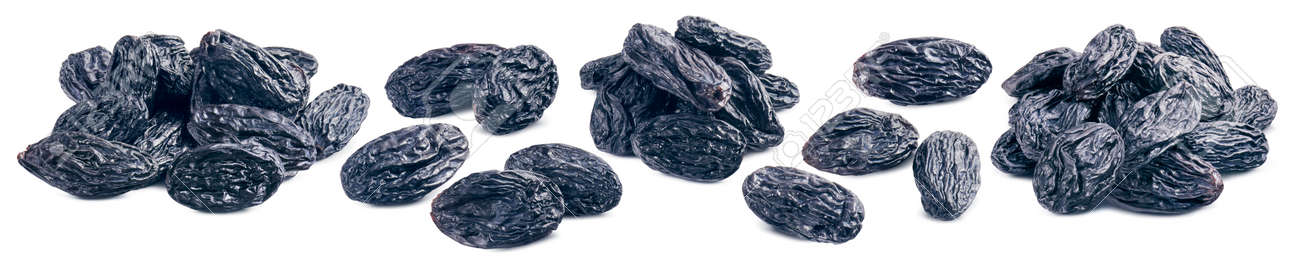 Blue raisin piles set isolated on white background. Package design element with clipping path - 169971638