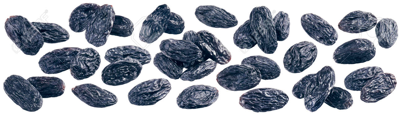 Dried raisin set isolated on white background. Package design element with clipping path - 169971639