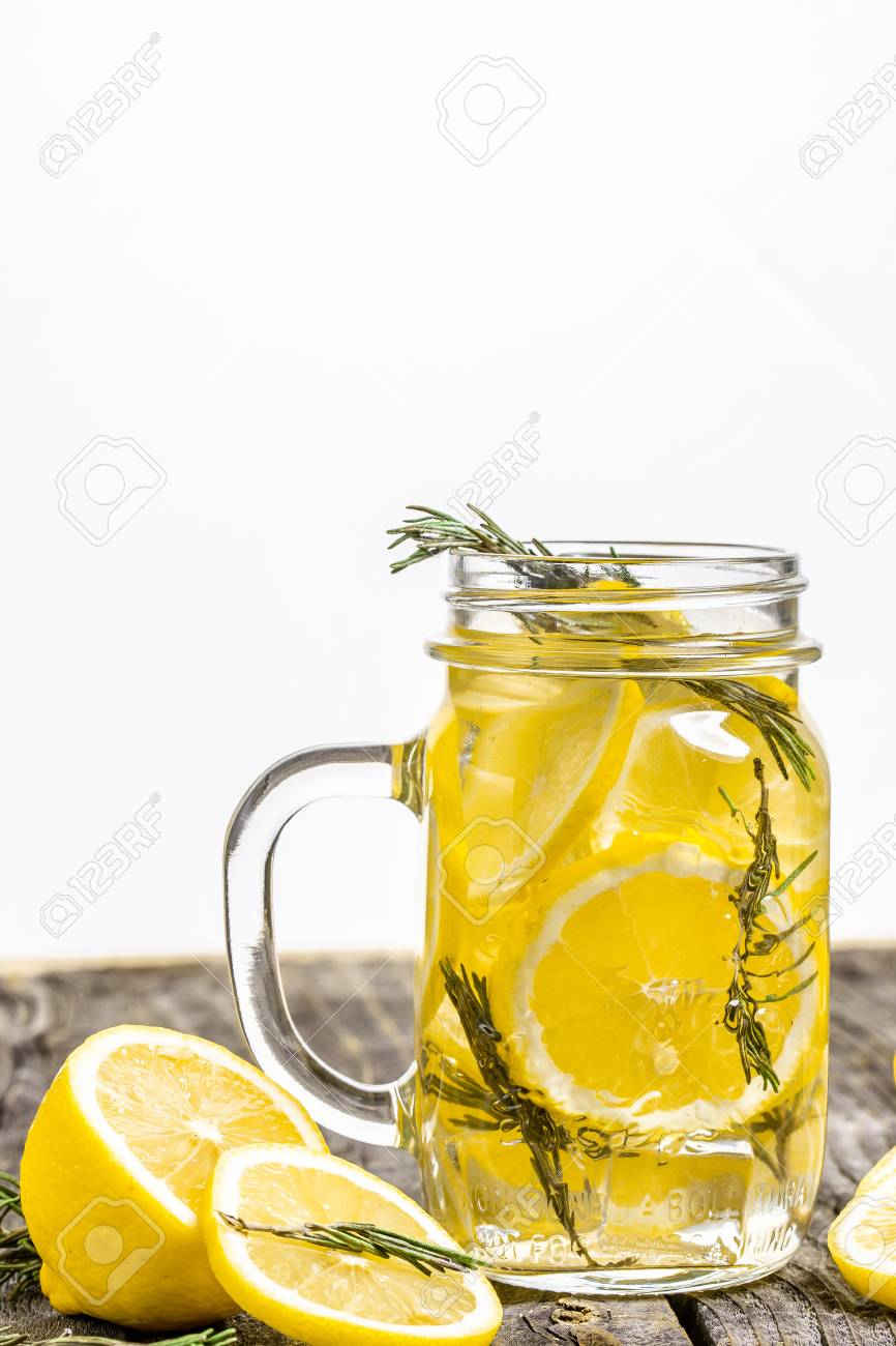Trendy Detox Healthy Drink Detox Water In Bottle With Lemon
