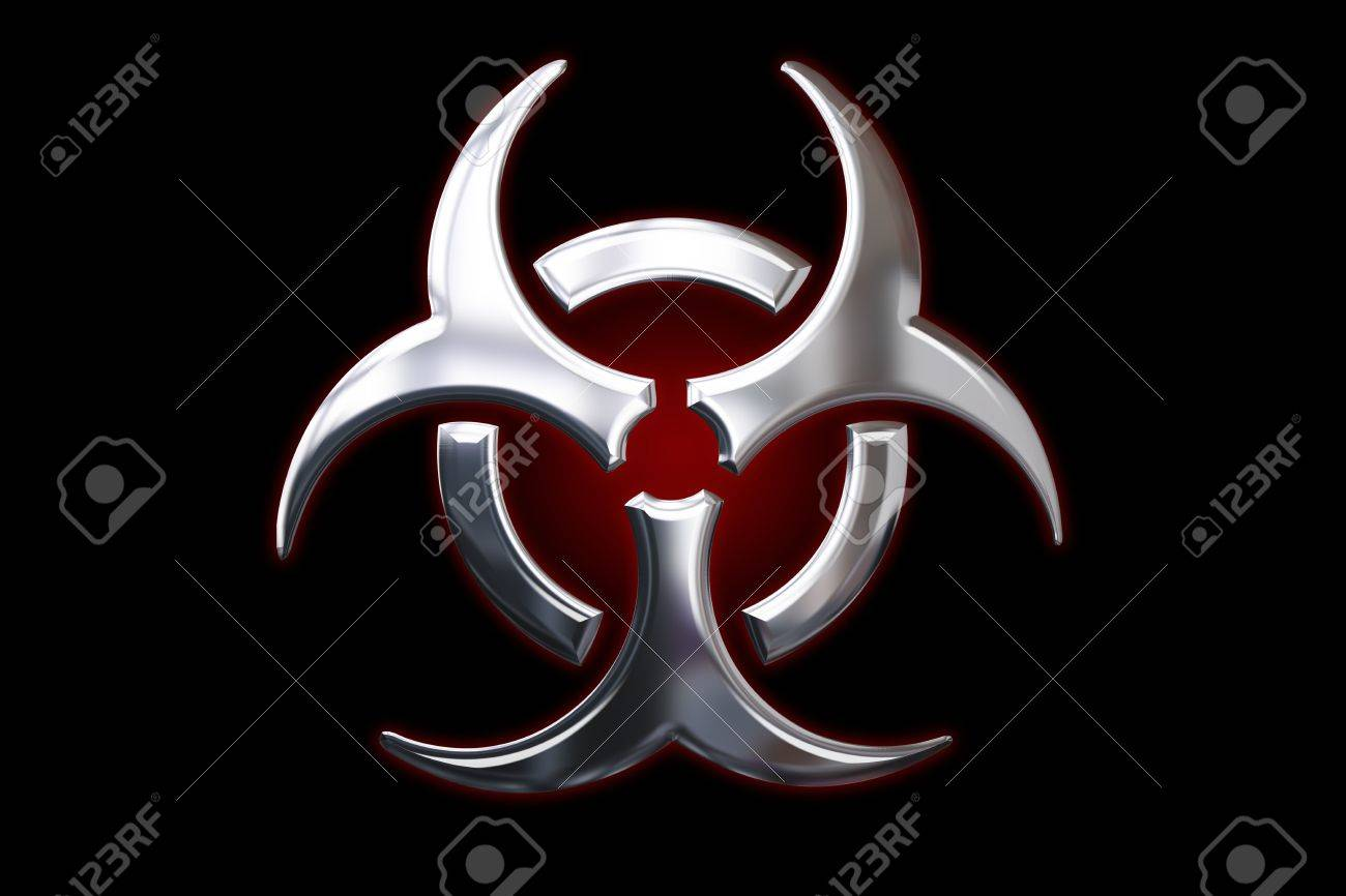 Biological hazard metallic Sign Stock Photo - 5612229