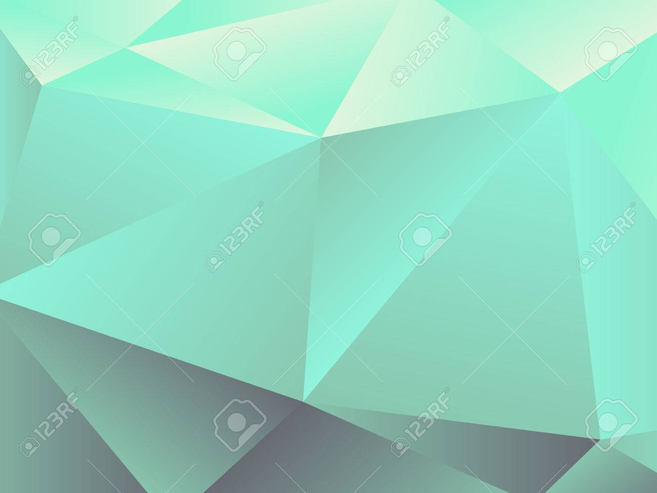 Geometric background, triangle design, mint green color, vector  illustration Stock Vector - 30430032