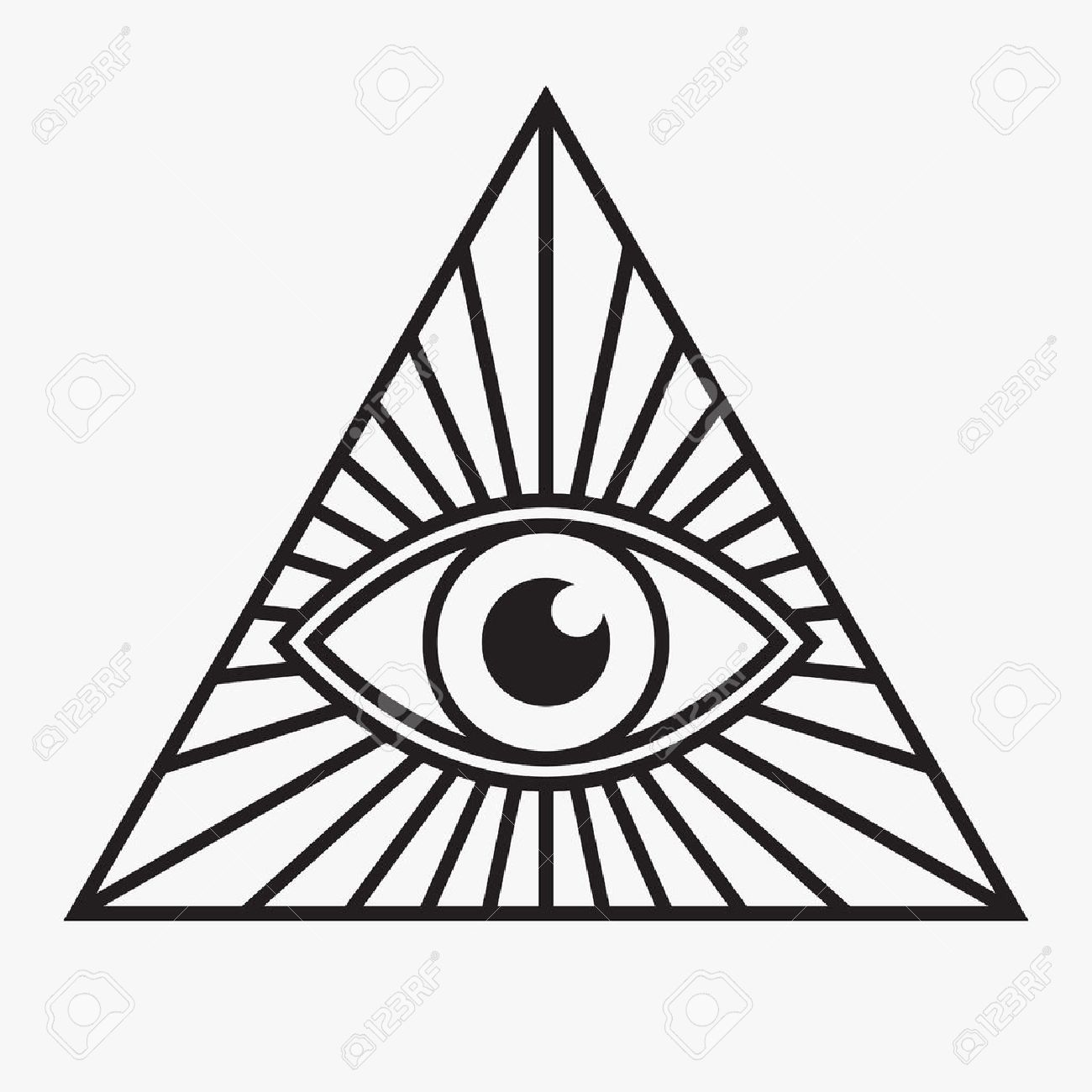 All Seeing Eye Symbol Vector Illustration