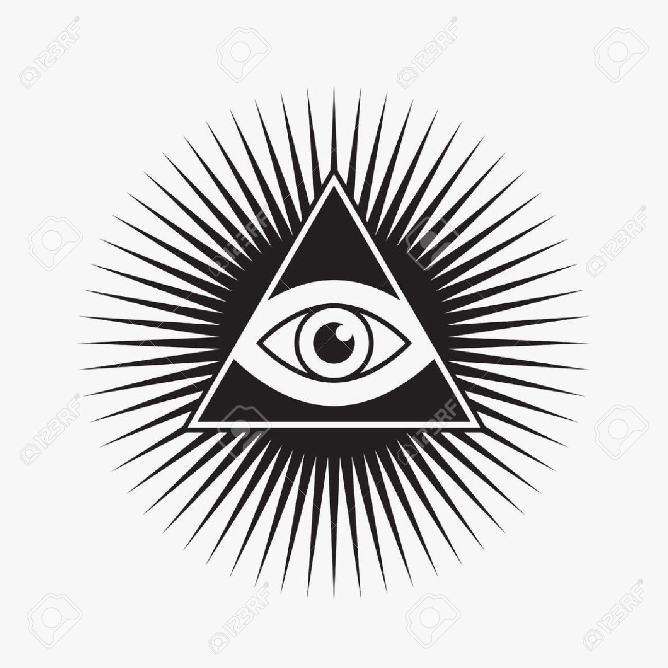 All seeing eye symbol star shape vector illustration royalty all seeing eye symbol star shape vector illustration stock vector 31280016 buycottarizona