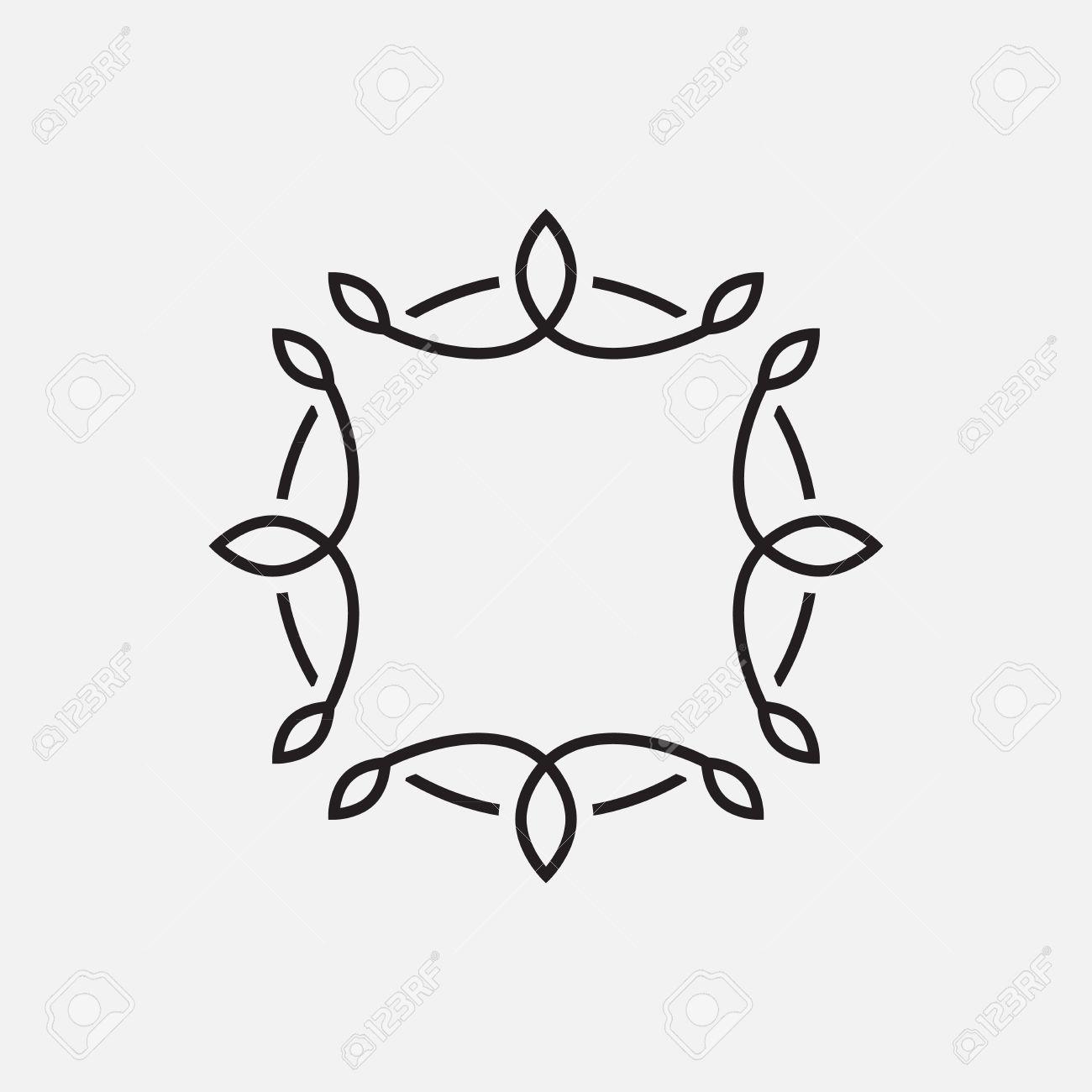 フレーム テンプレート 花飾り シンプルなデザインベクター イラスト