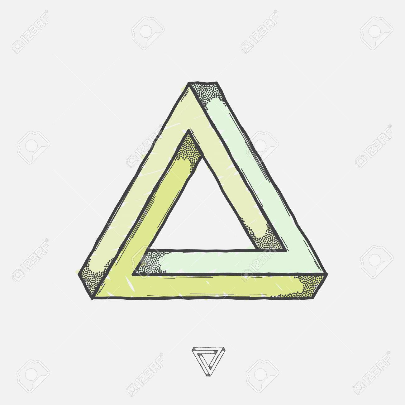 Penrose triangle: paper hands 78