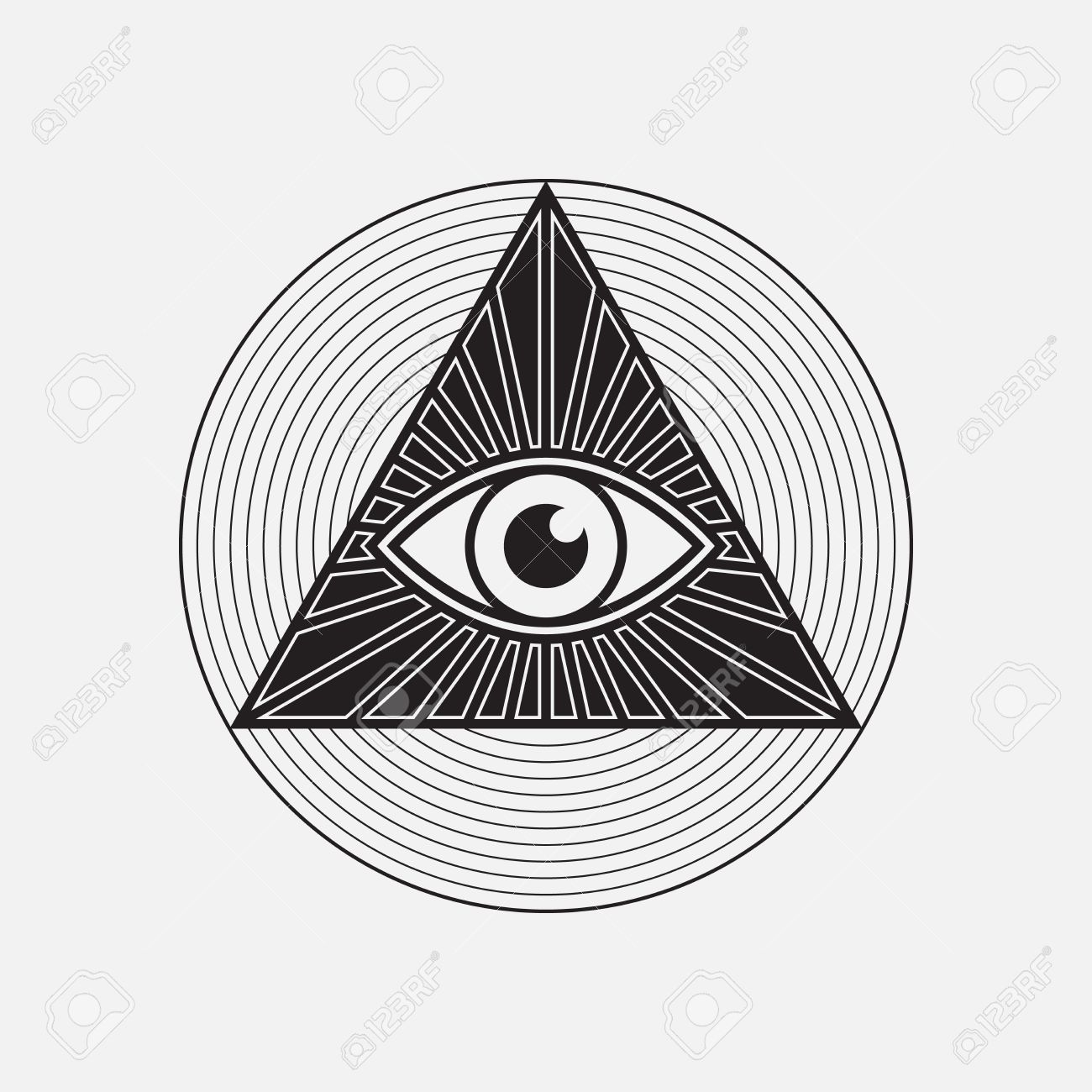 All Seeing Eye Symbol Vector Illustration Royalty Free Cliparts