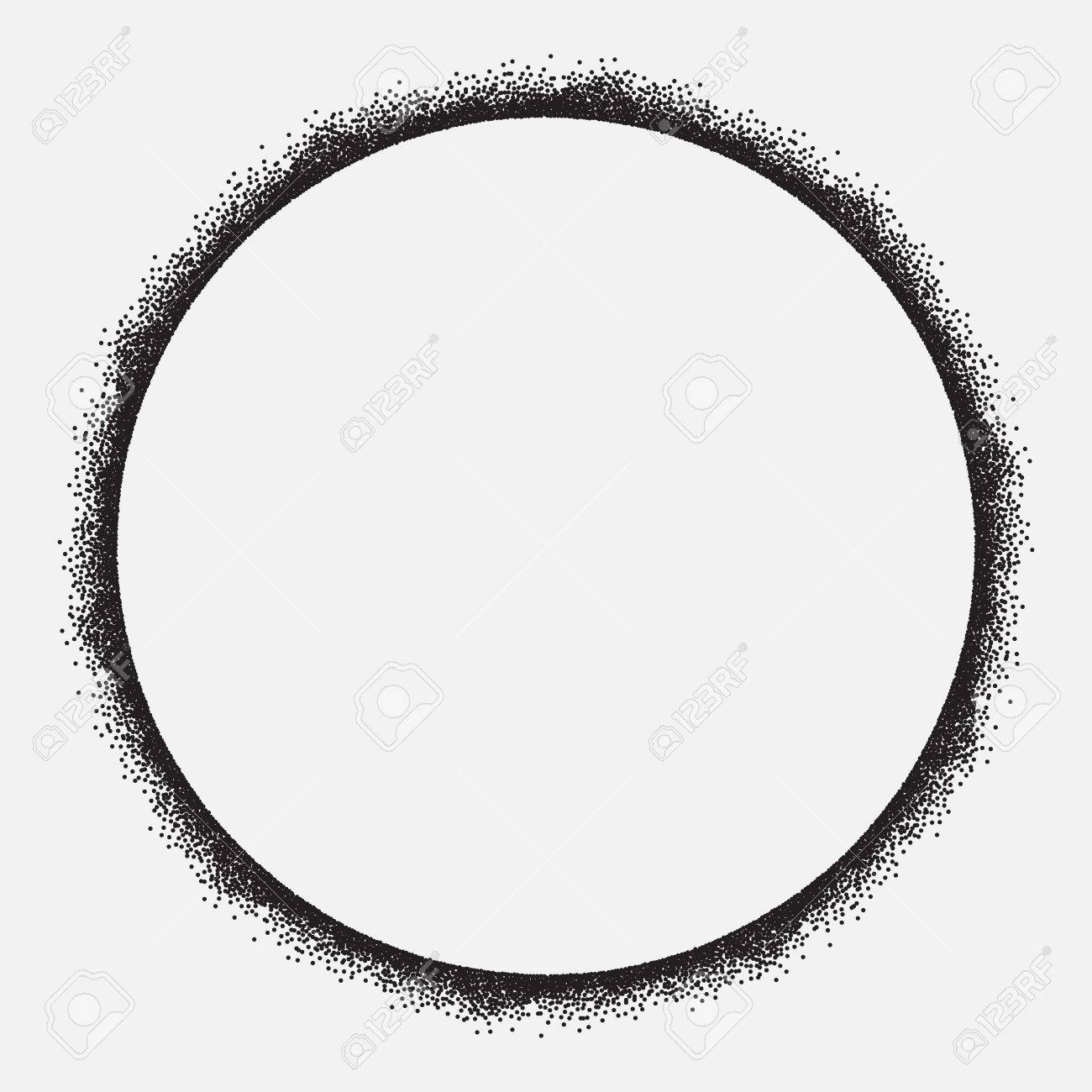 Circle Frame, Grunge Design, Isolated, Vector Royalty Free Cliparts ...