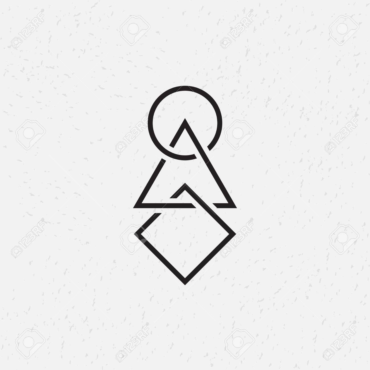 Interlocked circle triangle and square vector illustration interlocked circle triangle and square vector illustration geometric symbols stock vector 41826211 buycottarizona