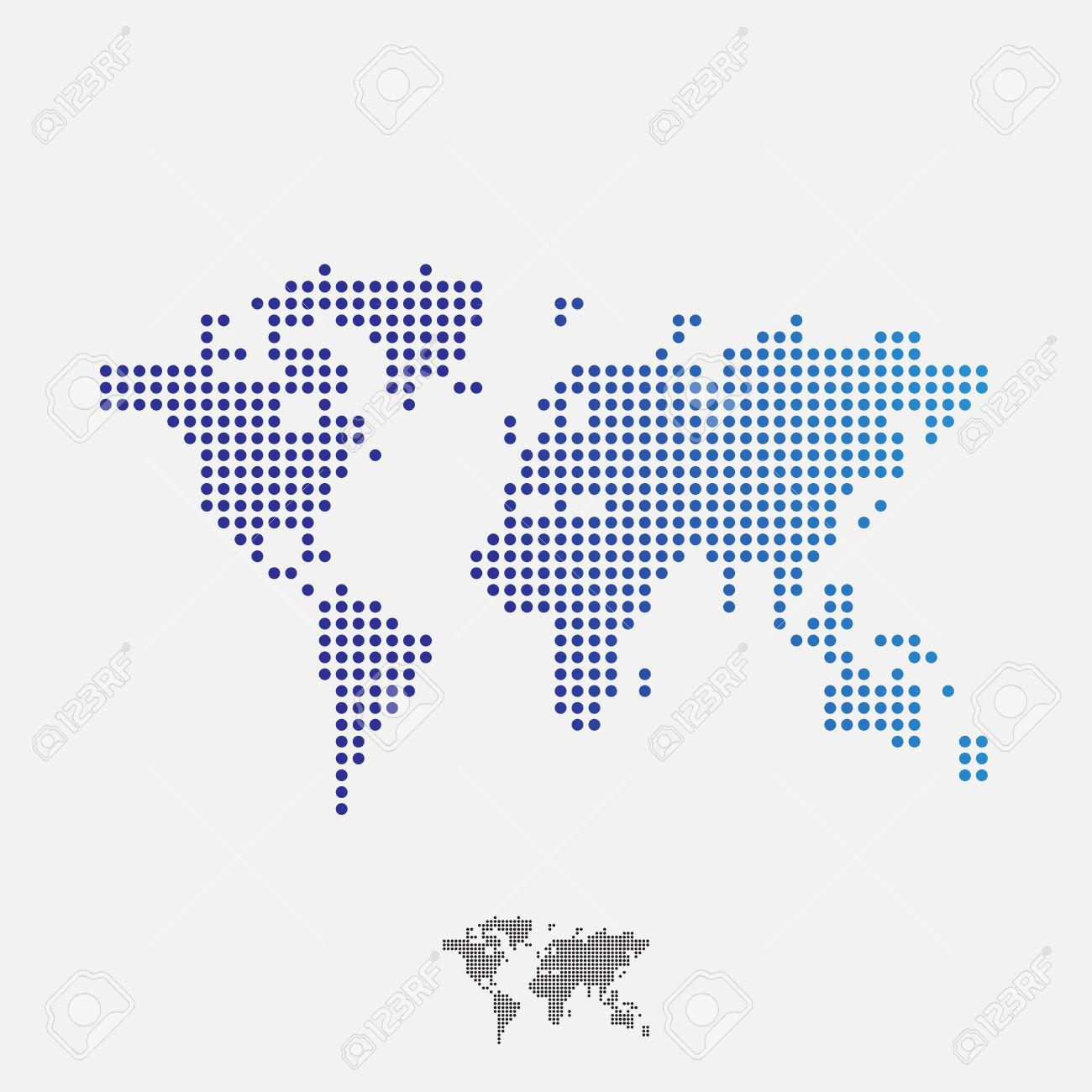 Abstract world map dots vector royalty free cliparts vectors and abstract world map dots vector stock vector 42148839 gumiabroncs Images