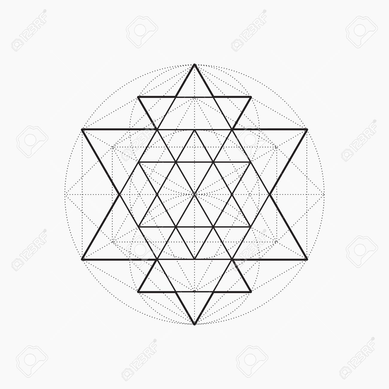 Geometric shapes, line design, triangle, sacred geometry, abstract symbol of the constitution of man, vector illustration - 51265158