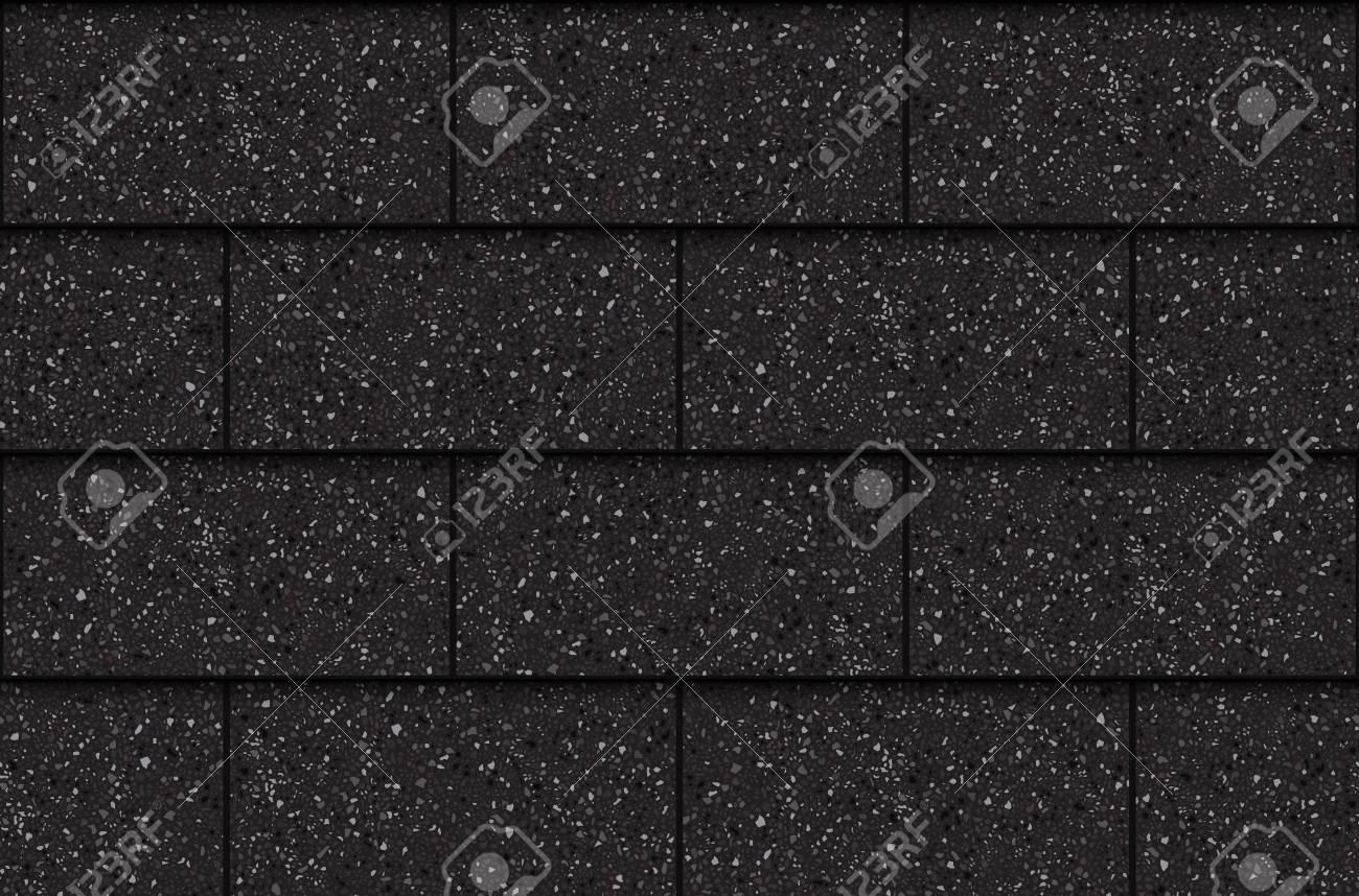 Asphalt roof shingles, seamless pattern, rectangles, vector illustration - 102912123