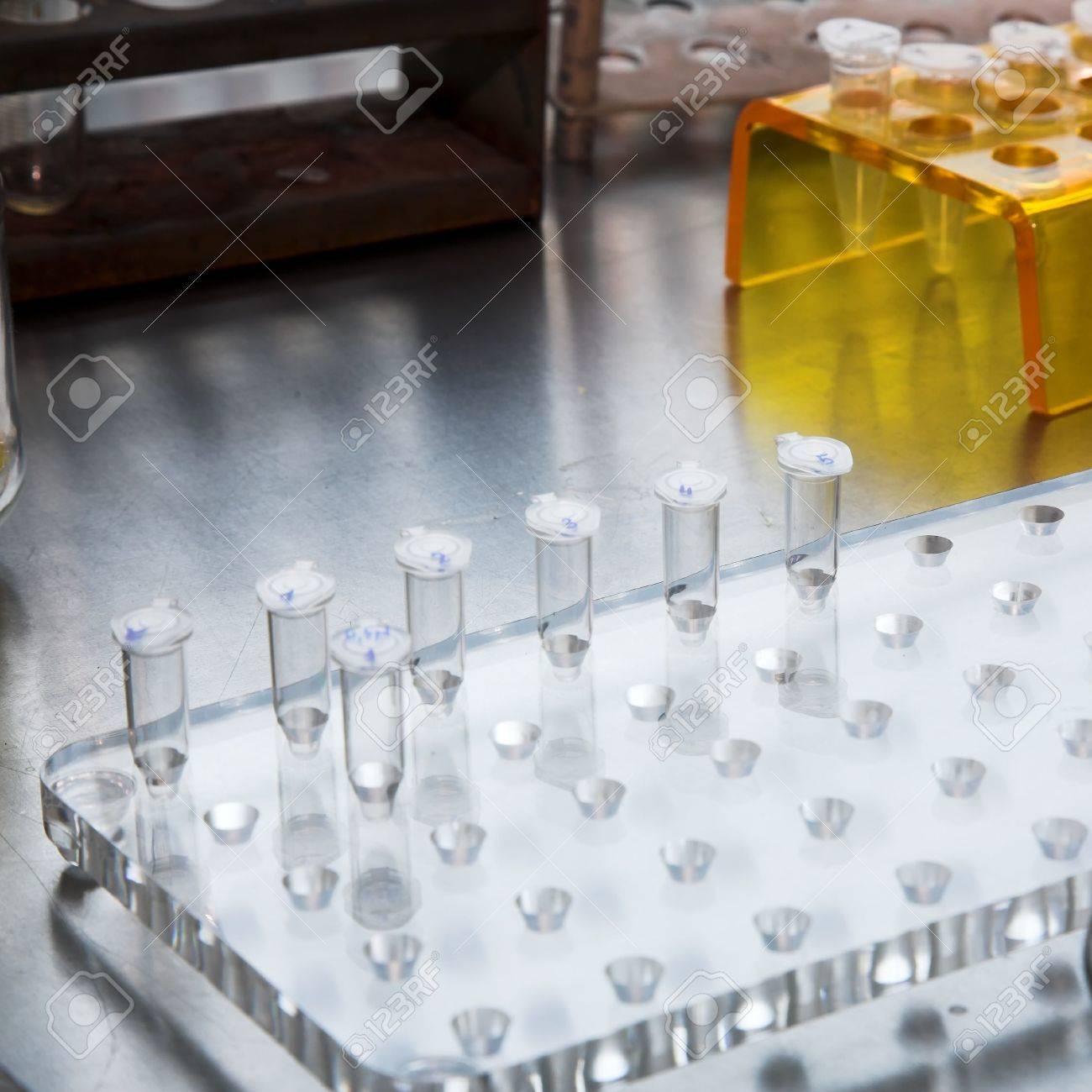 laboratory workplace for biotechnology investigation. DNA analyze Stock Photo - 3517508