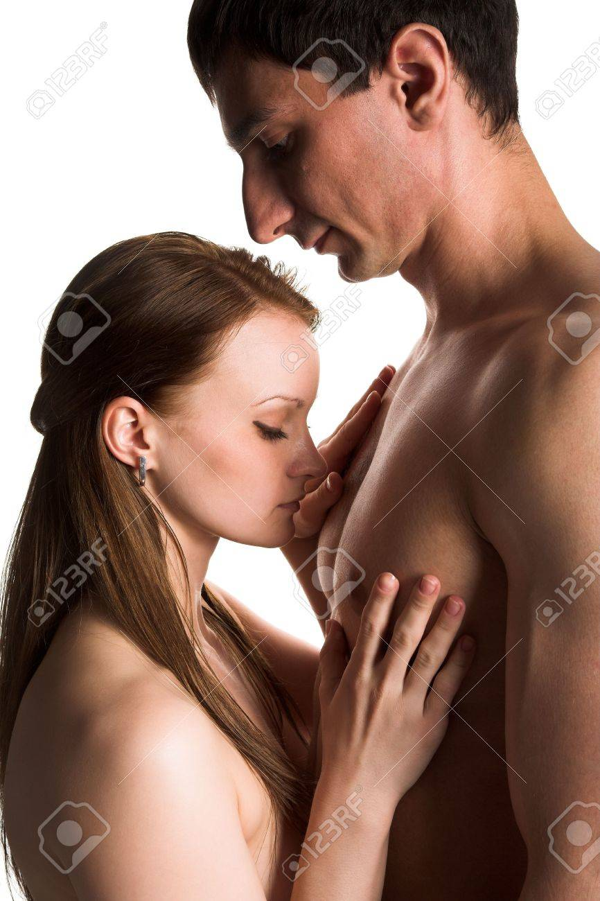 happy lovers isolated on the white background Stock Photo - 5029172