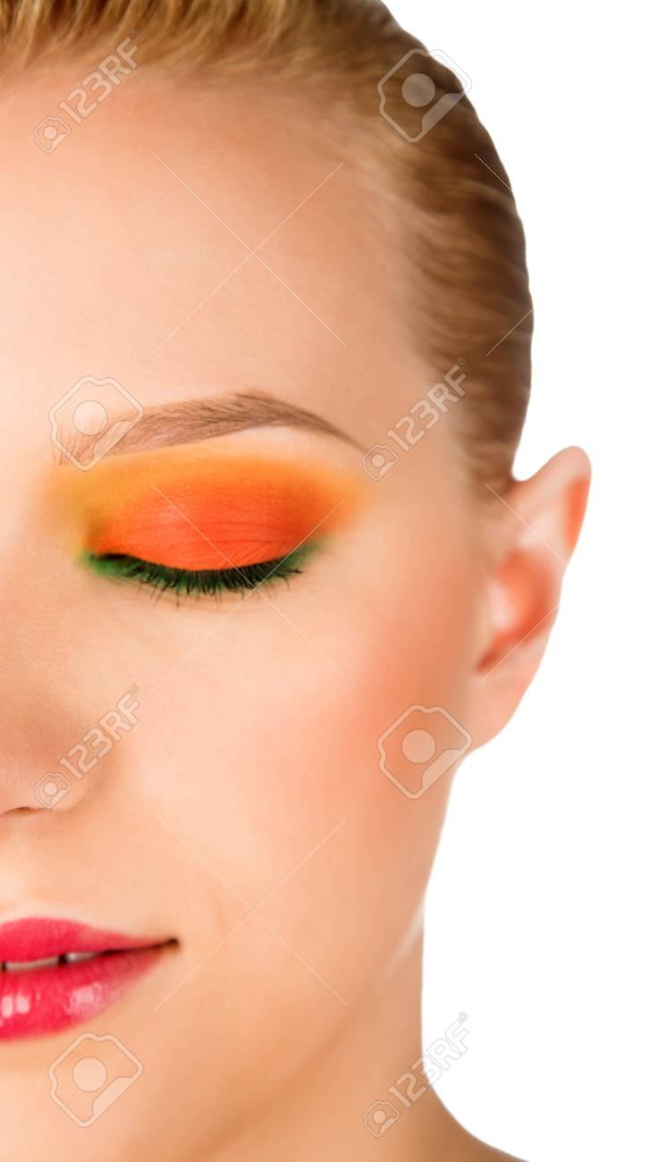 portrait of beauty woman with closed eyes Stock Photo - 8696801