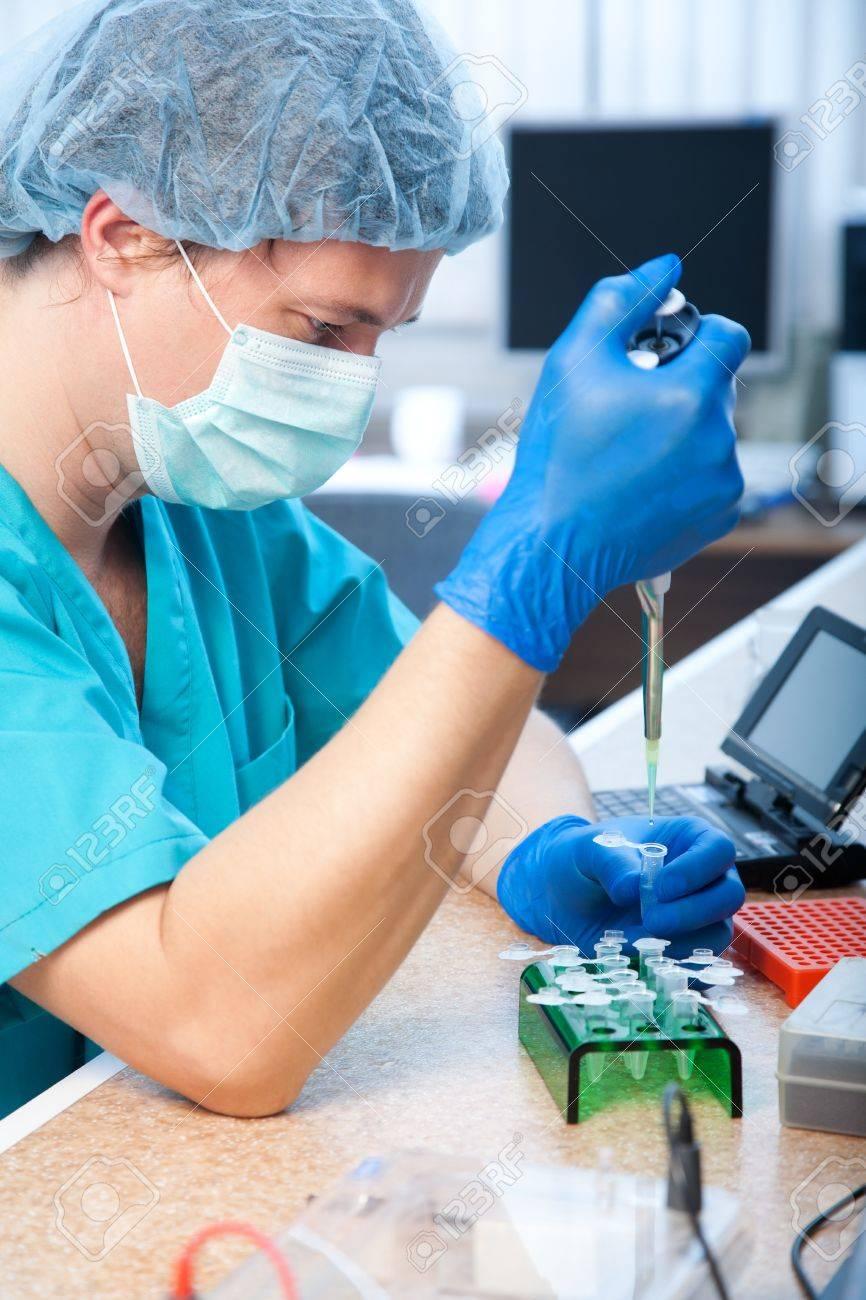 workplace modern laboratory for molecular biology test - 11230932