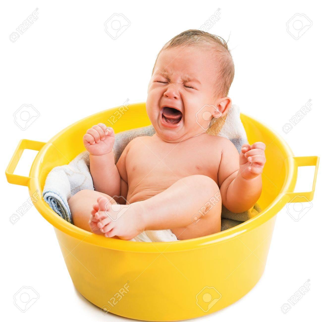 crying boy isolated on white - 18225130