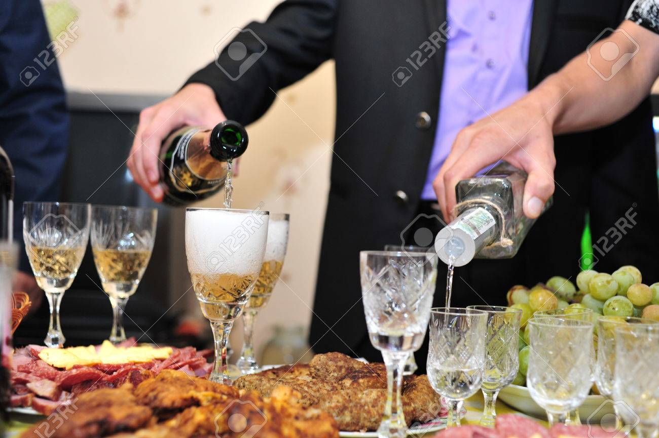 some appetizing food from banquet table. wedding - 39685862
