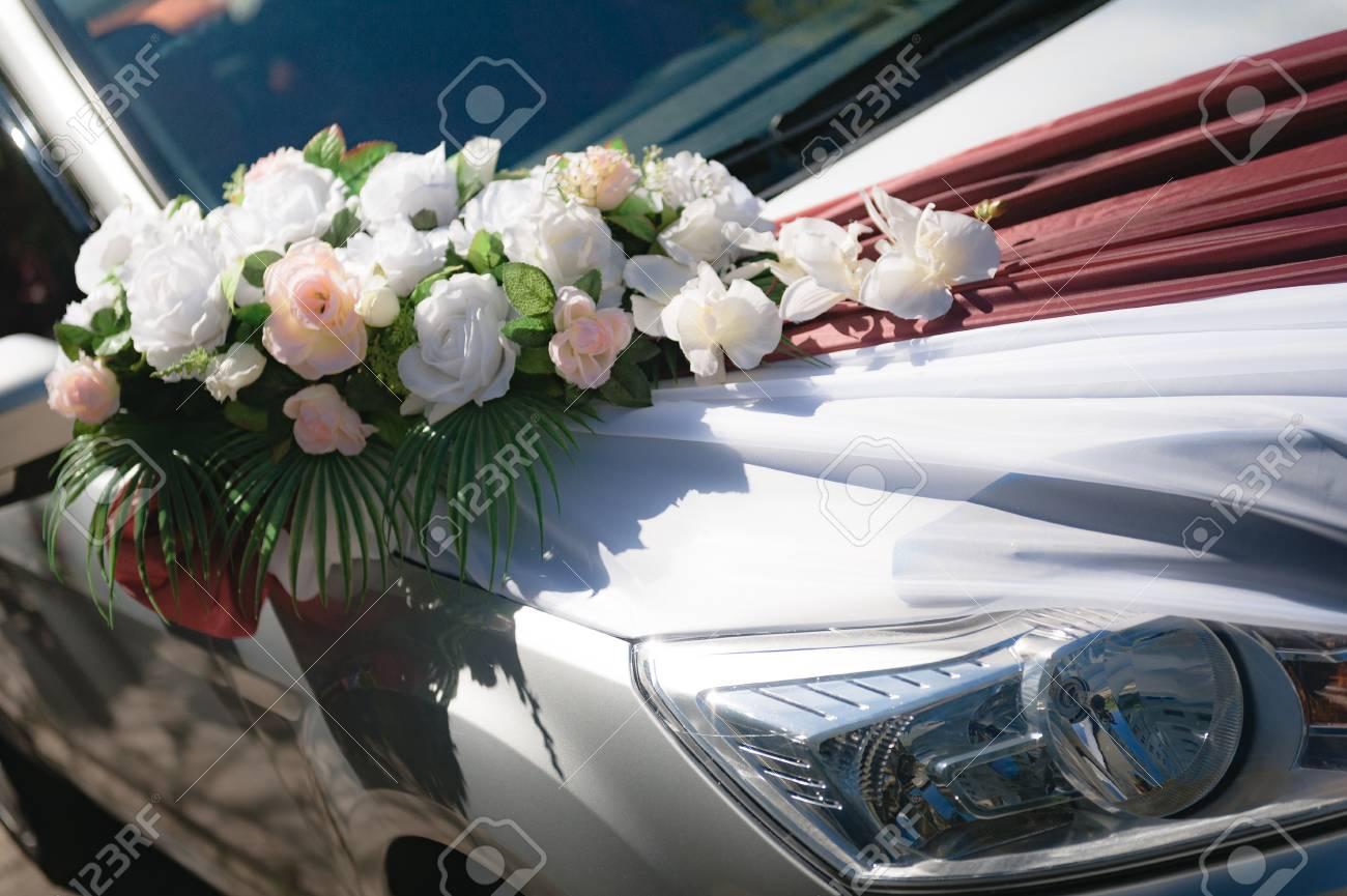 Wedding Car Wedding Decoration On Wedding Car Luxury Wedding Stock