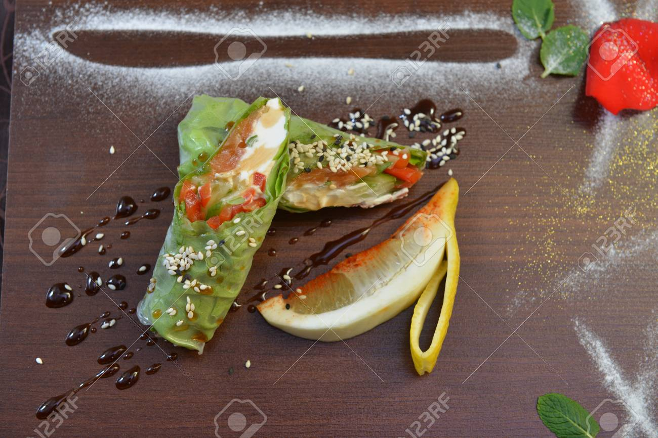 Restaurant Food Catering Buffet Served Dishes Restaurant Stock Photo Picture And Royalty Free Image Image 96748026
