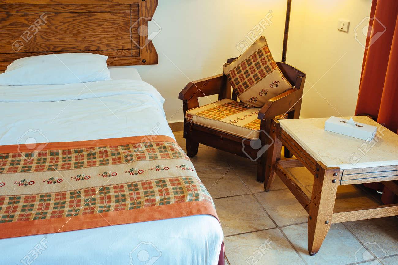 Interior detail from a 5 star luxury hotel resort near Hurghada, Egypt. - 155651632