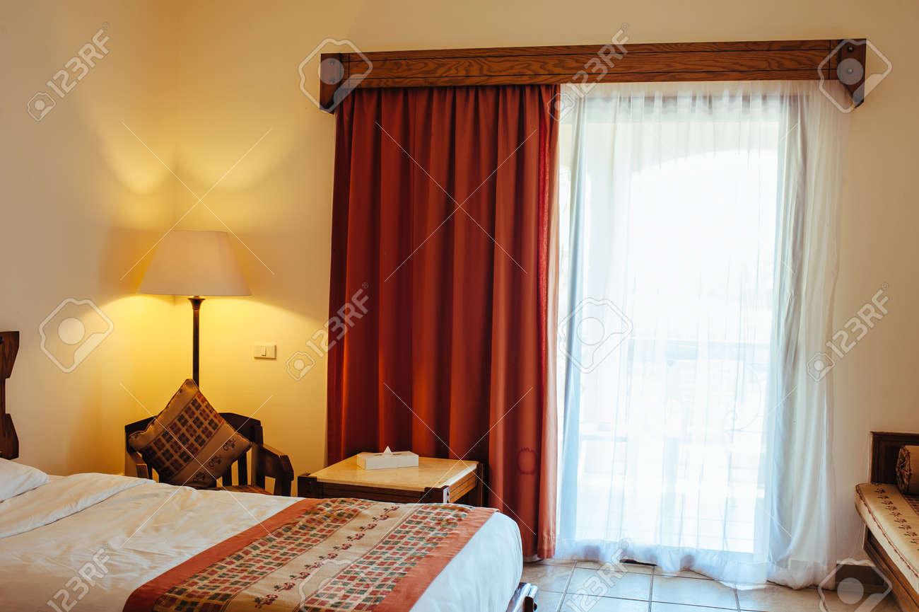 Interior detail from a 5 star luxury hotel resort near Hurghada, Egypt. - 155654241