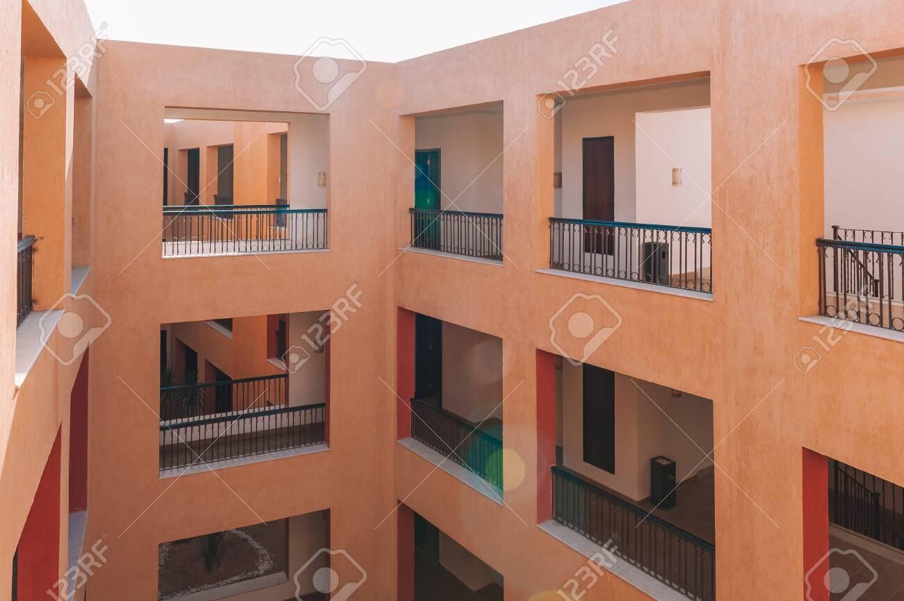 Modern Luxury Apartment Building. facade balcony - 151330748