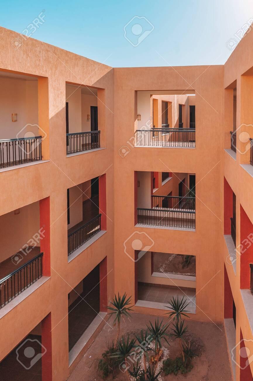 Modern Luxury Apartment Building. facade balcony - 151316219