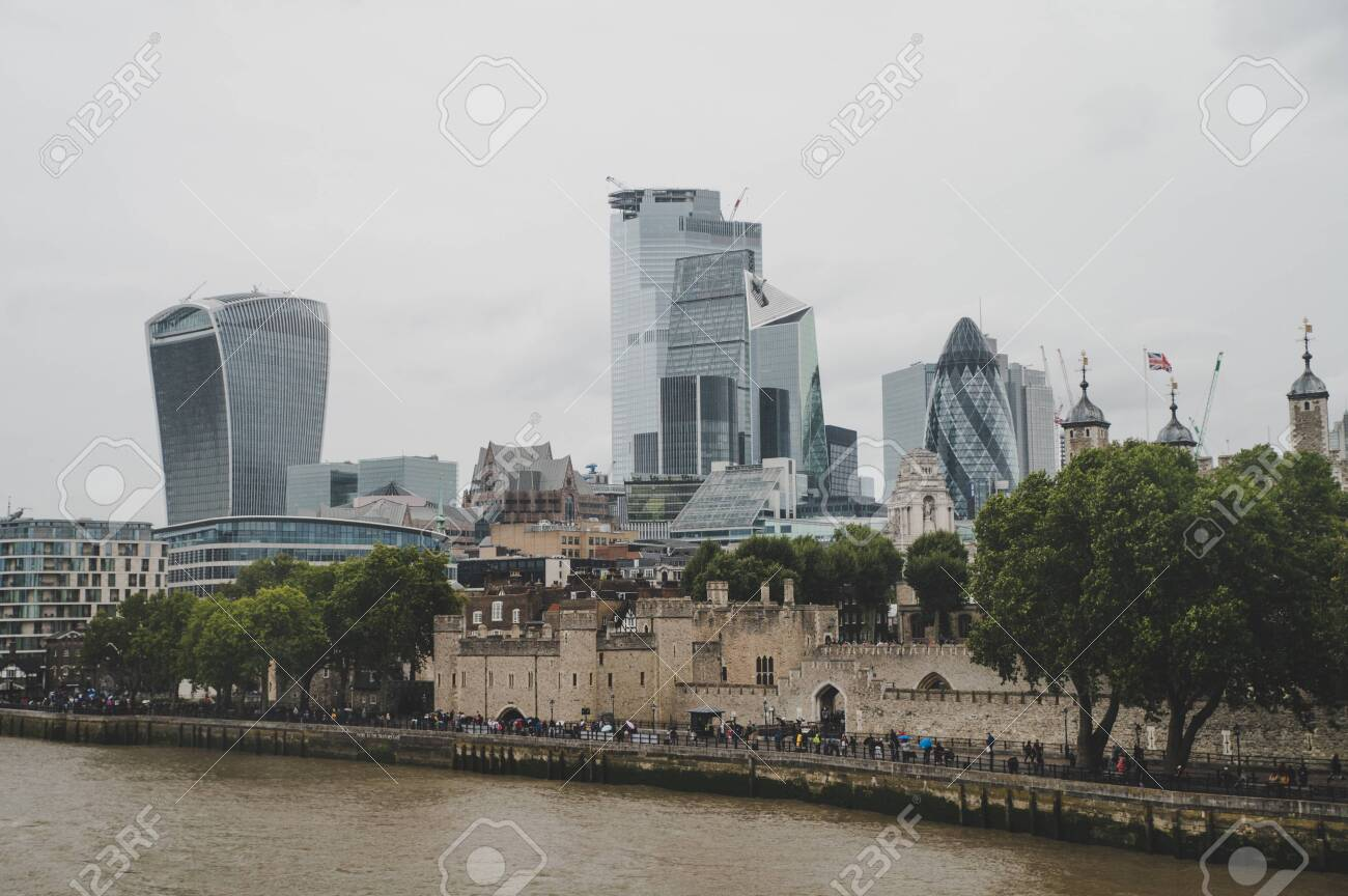 .Skyscrapers at the City of London - 135588912