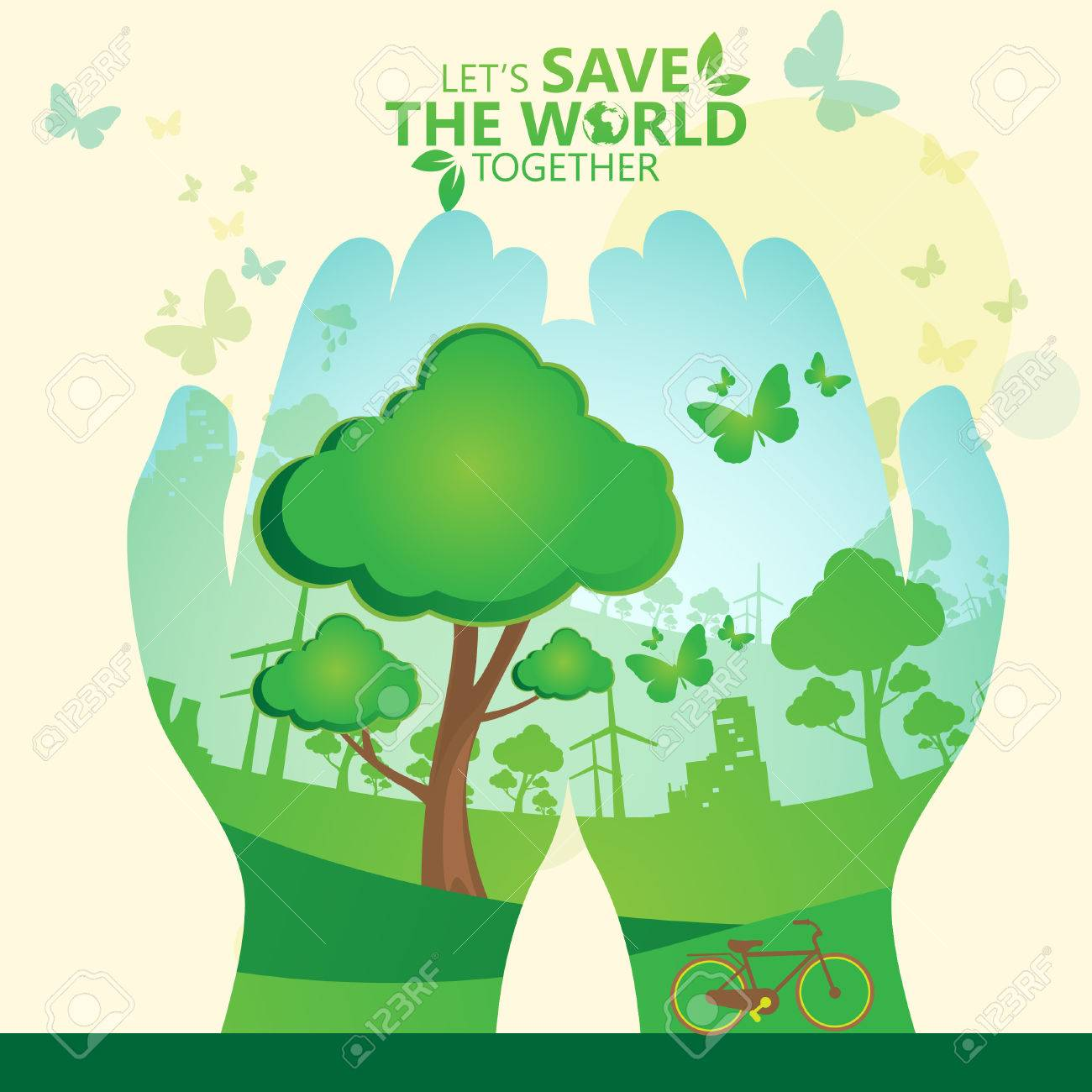 Save The World Stock Vector   33174021