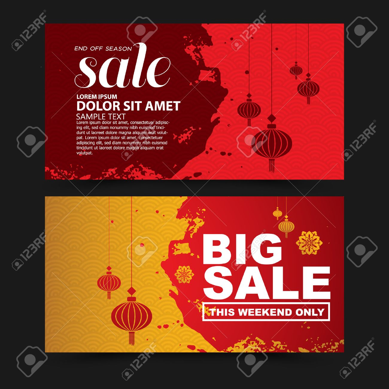 chinese new year sale design template stock vector 50570843