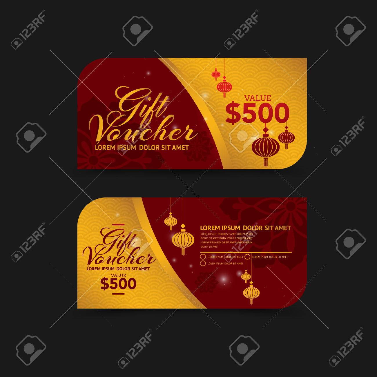 chinese new year gift voucher design template stock vector 50570852