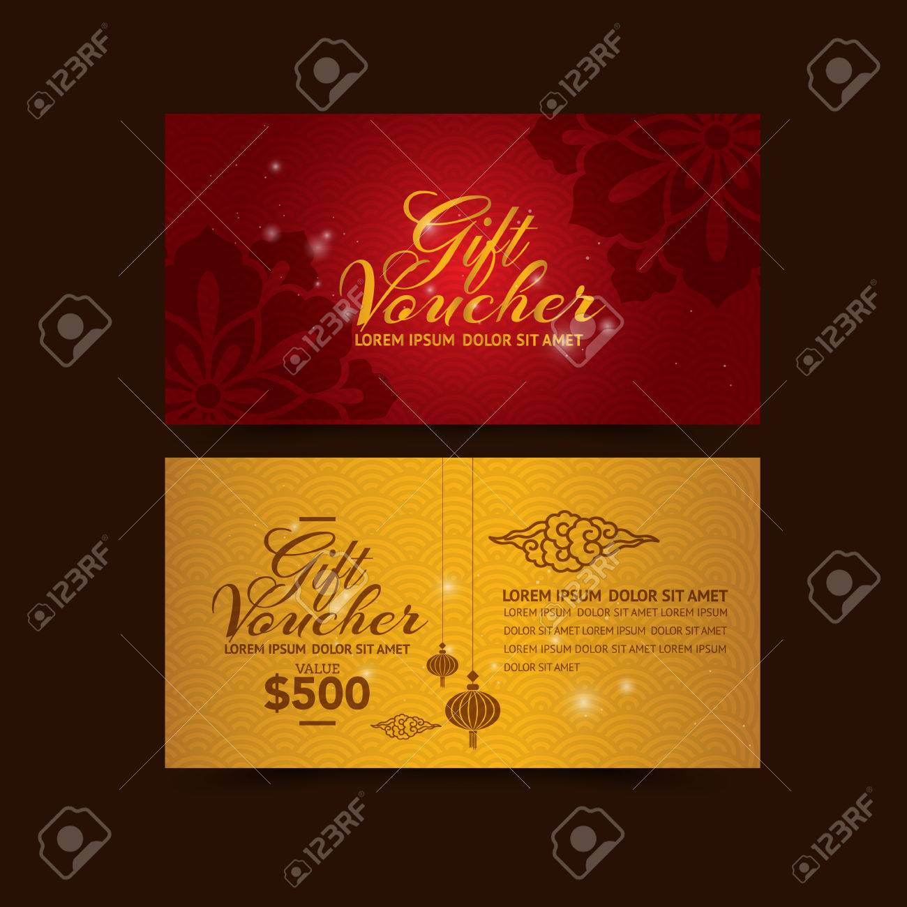 chinese new year gift voucher design template stock vector 50570850