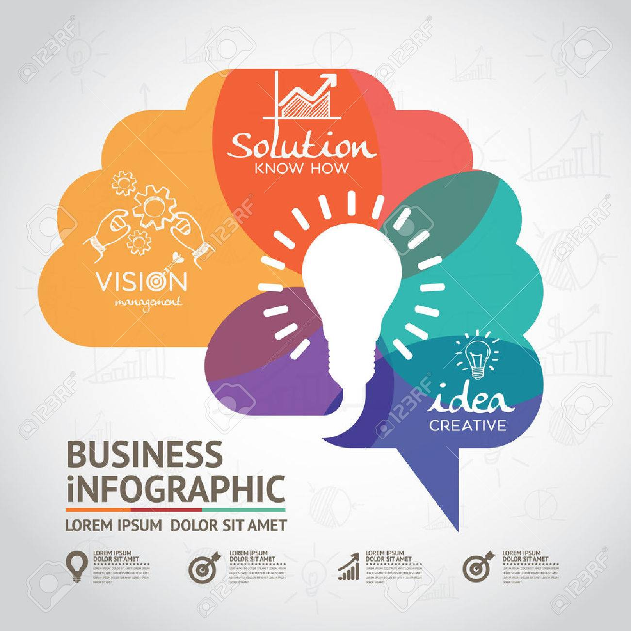 infographics vector brain design - 50857402