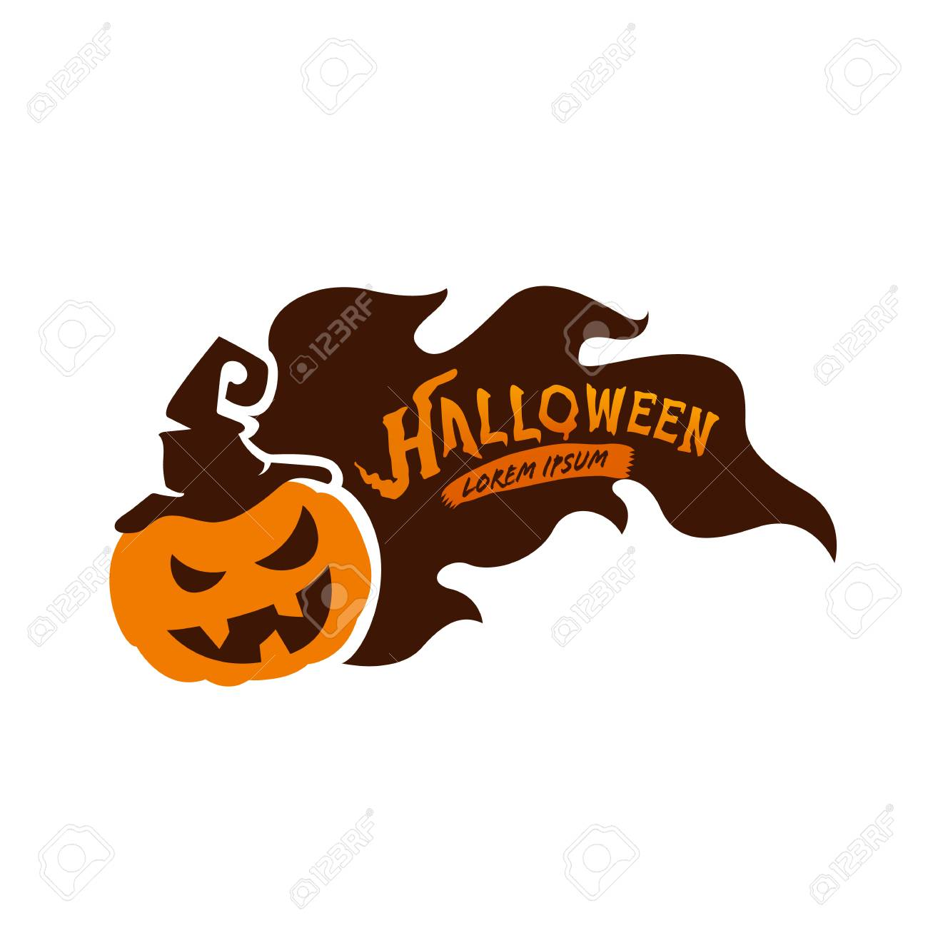 Halloween Sale Design Template Vector Illustration Stock Vector   87379323