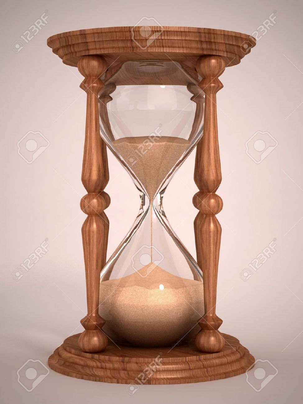 hourglass sandglass sand timer sand clock 3d illustration stock