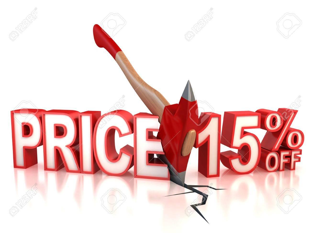 15 percent discount 3d concept Stock Photo - 12330710