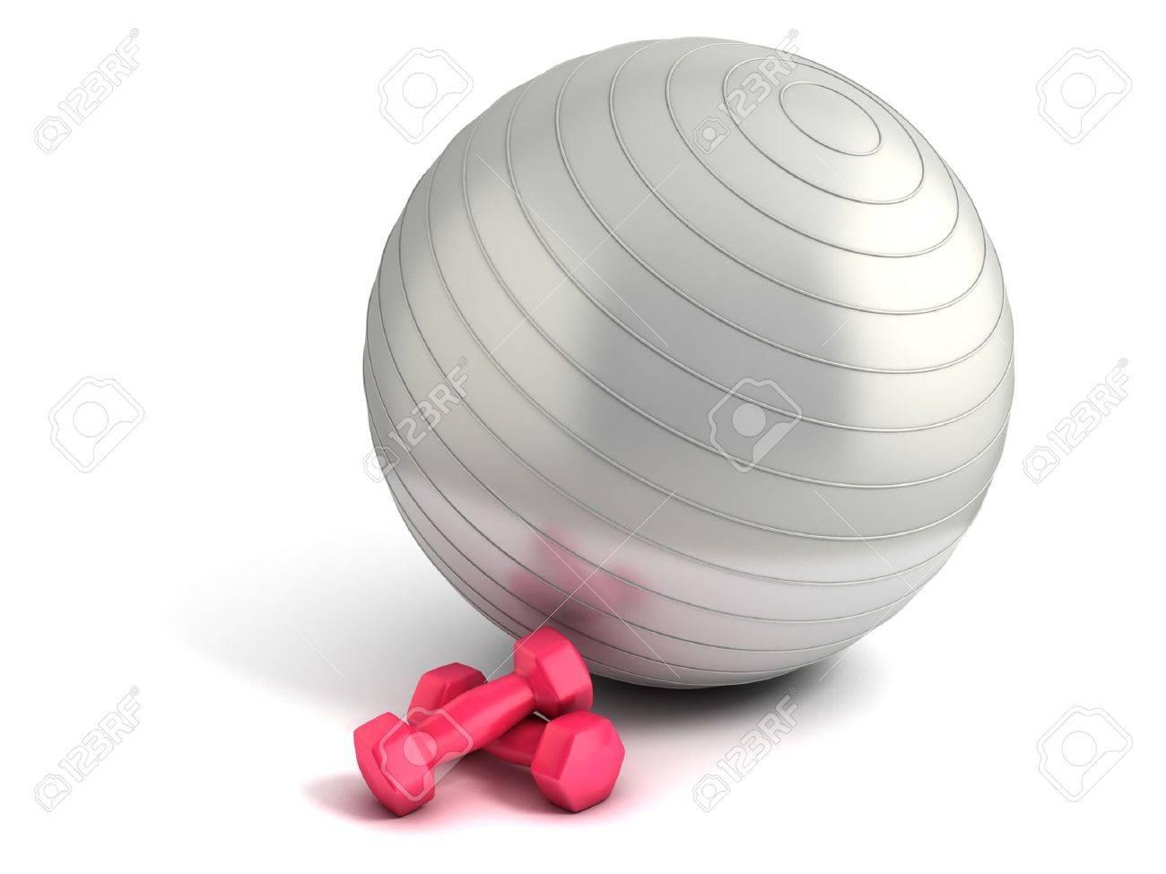 ballon de fitness et de musculation isolés banque d'images et photos