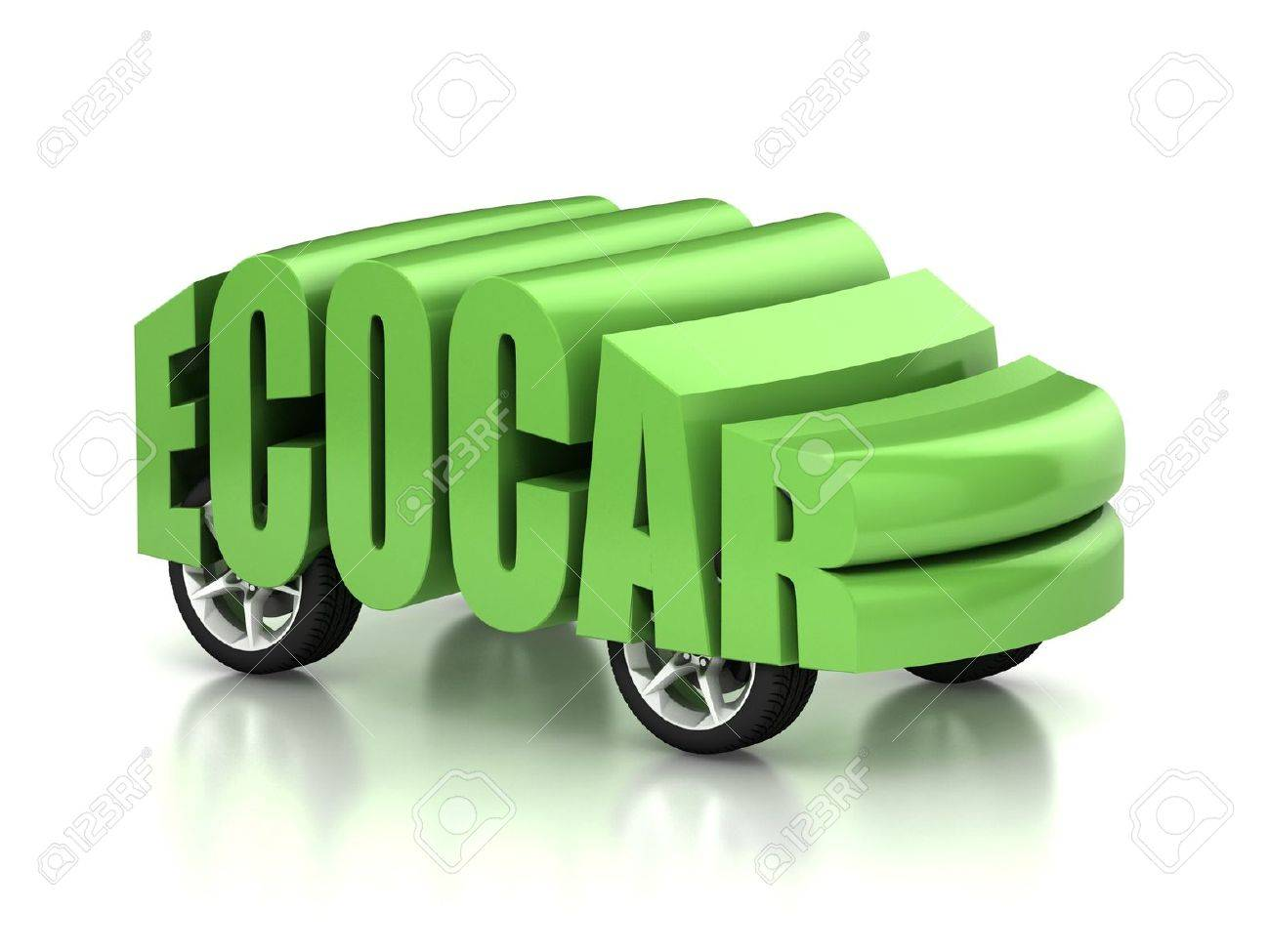 Eco Car 3d Concept Stock Photo, Picture And Royalty Free Image ...