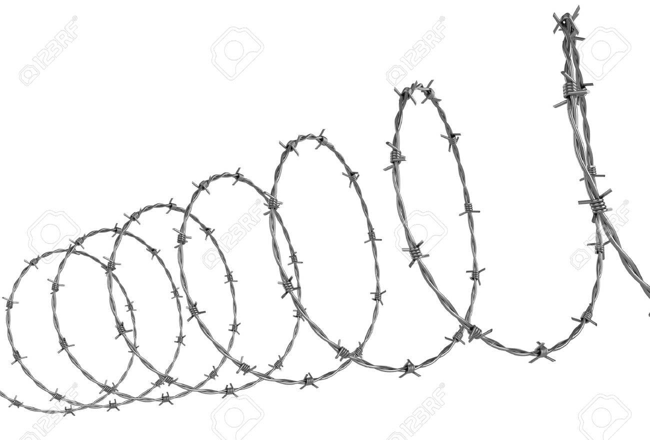 Wonderful Concertina Wire Clip Art Photos - Electrical Circuit ...