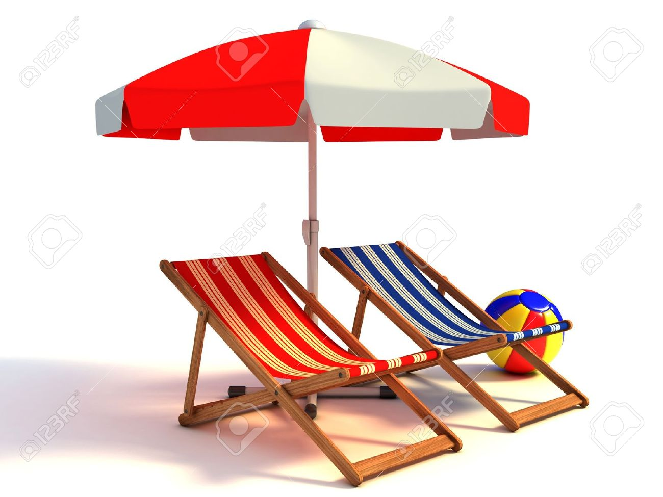 Beach umbrella and chair png - Beach Umbrella Two Beach Chairs Under Sunshade 3d Illustration Stock Photo