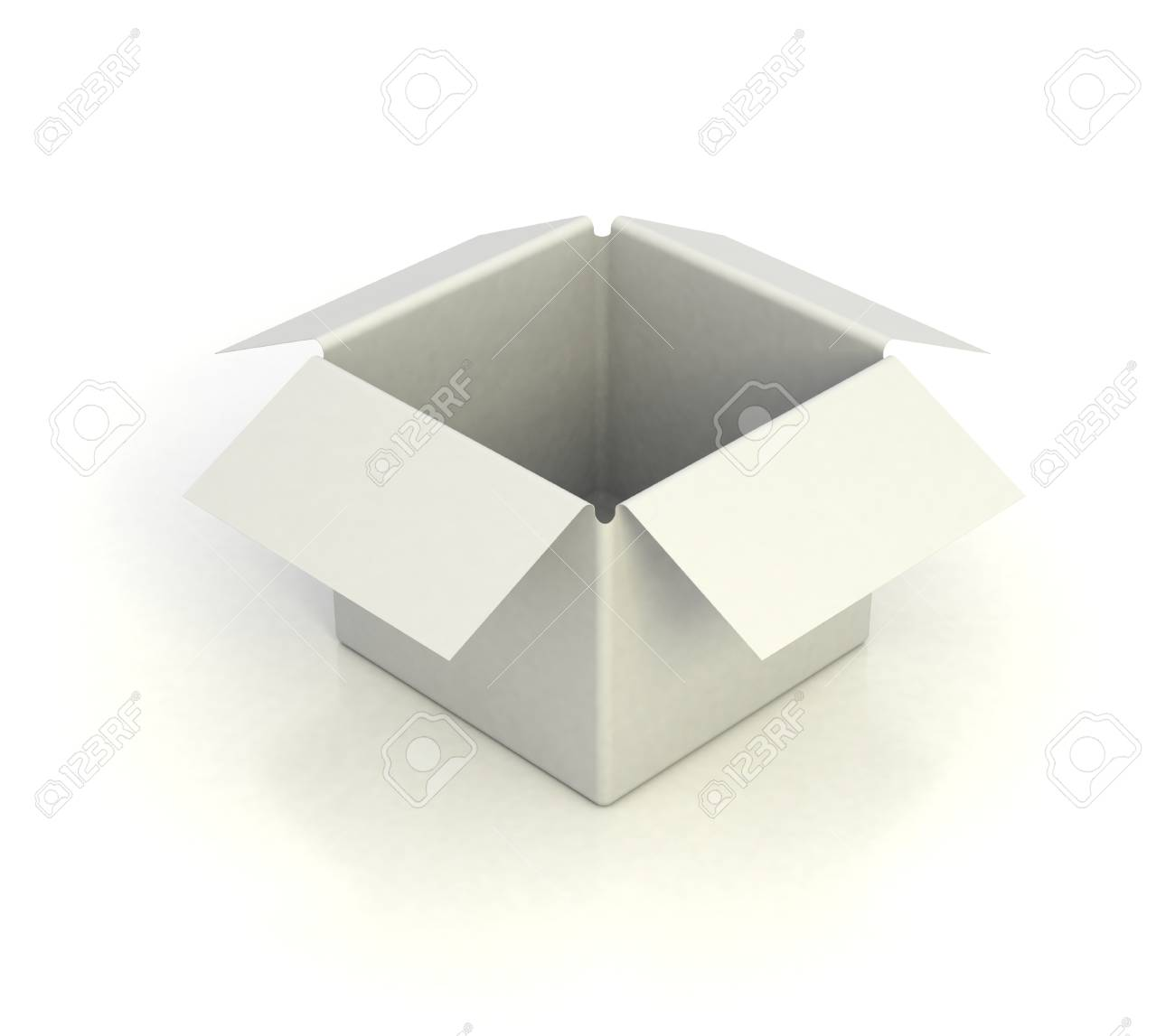 White empty box 3d illustration stock photo picture and royalty white empty box 3d illustration stock illustration 12331101 buycottarizona Gallery
