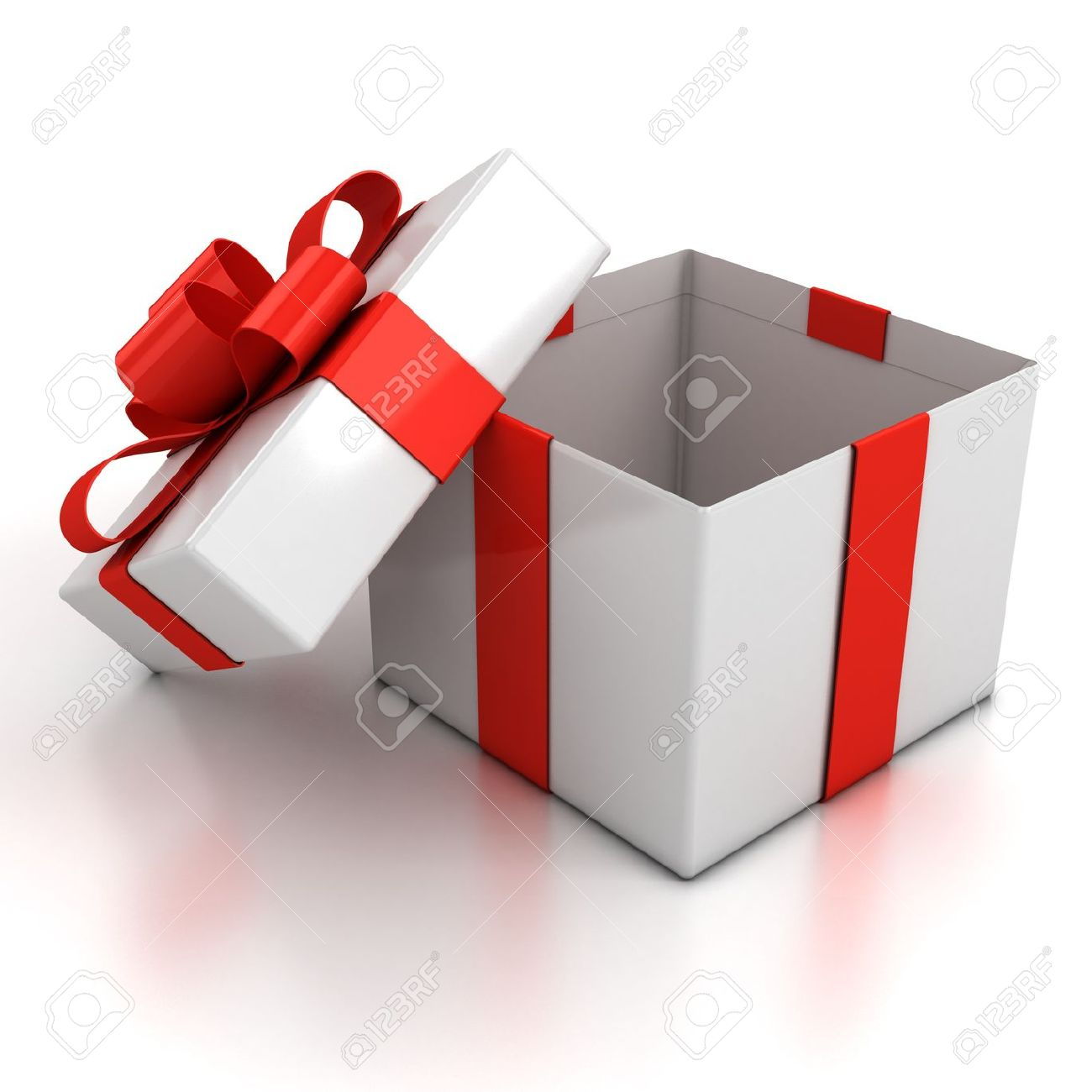 Open gift box over white background 3d illustration open gift box over white background 3d illustration 12331233 negle Gallery