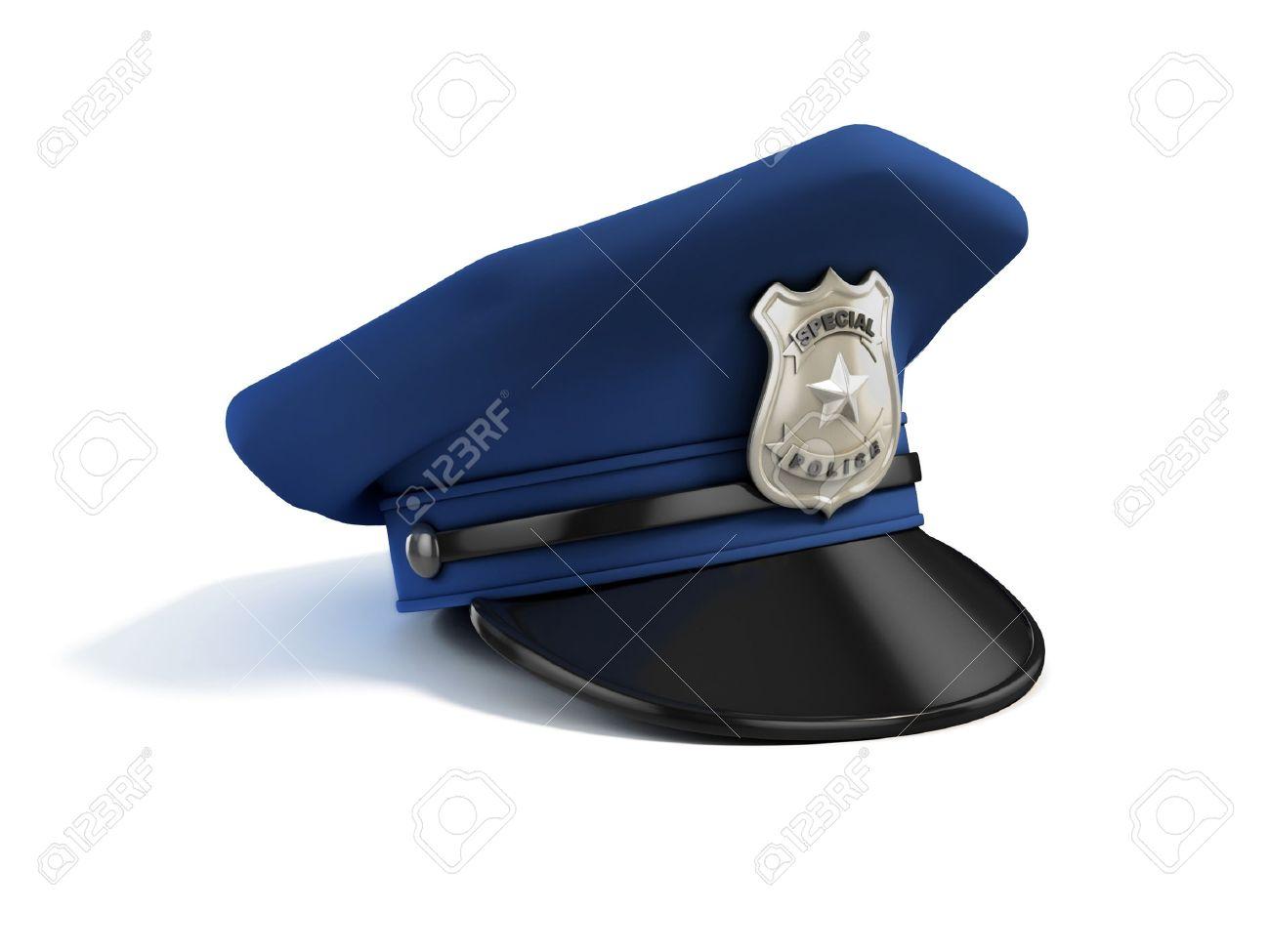 police hat 3d illustration Stock Photo - 12331308