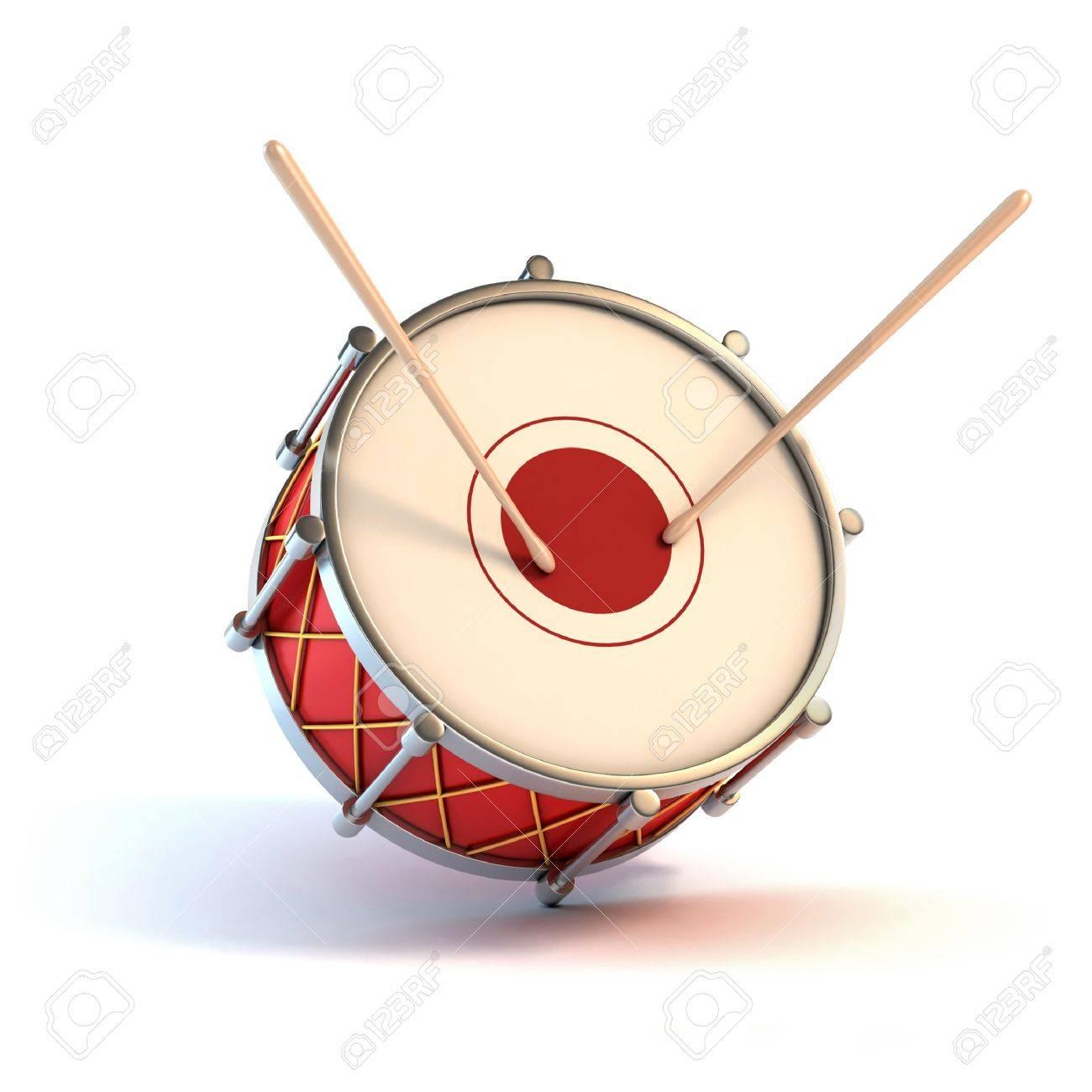 bass drum instrument - announcement 3d concept Stock Photo - 12331328