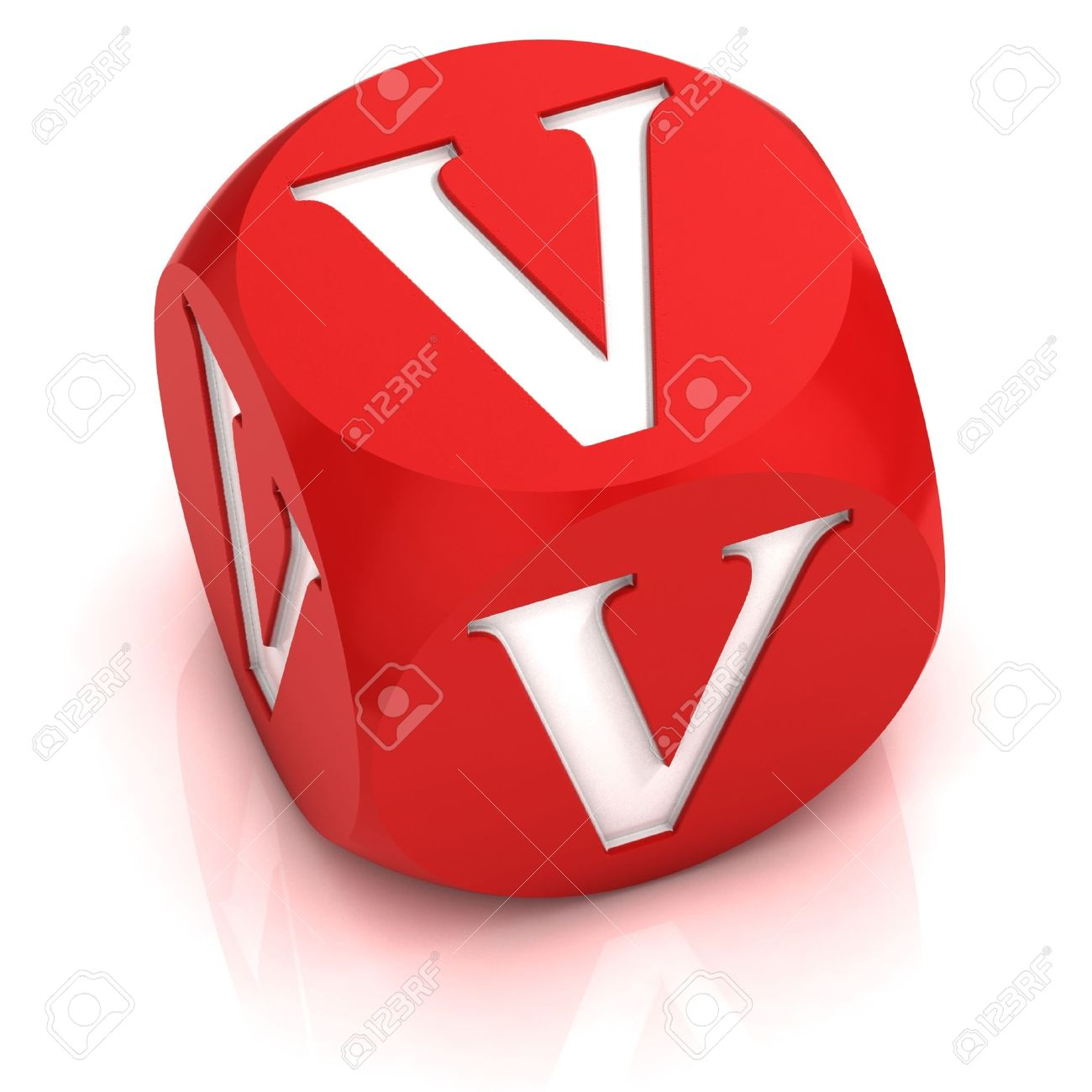 Dice Font Letter V Stock Photo, Picture And Royalty Free Image
