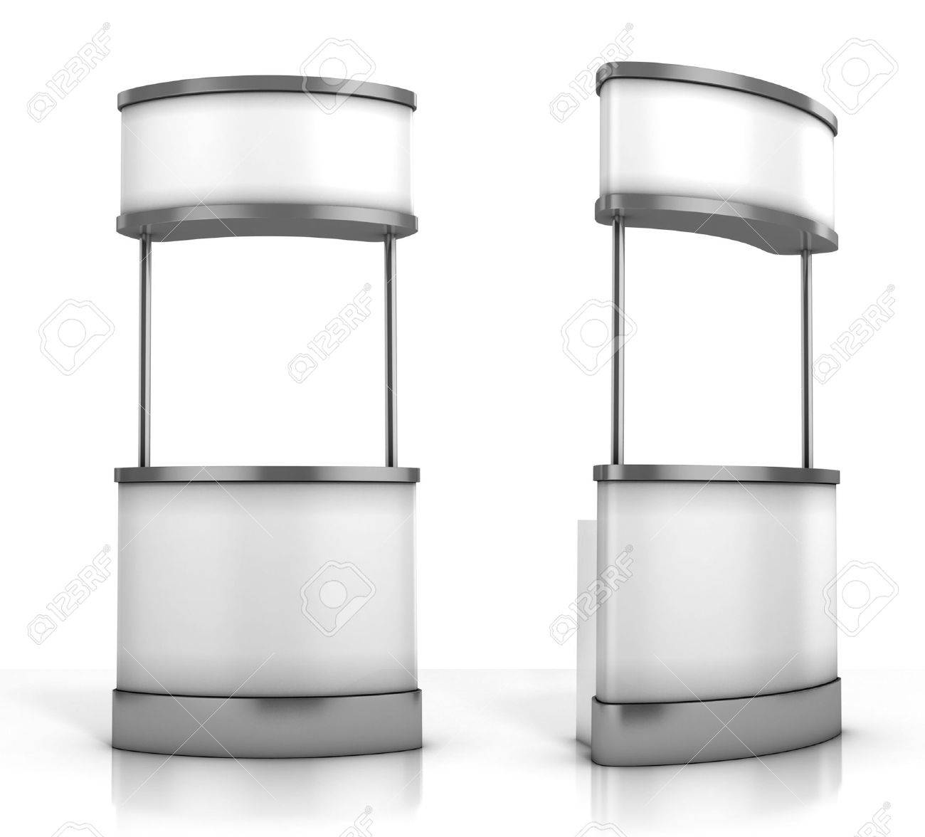 blank promotion counter  on the white background Stock Photo - 12557532
