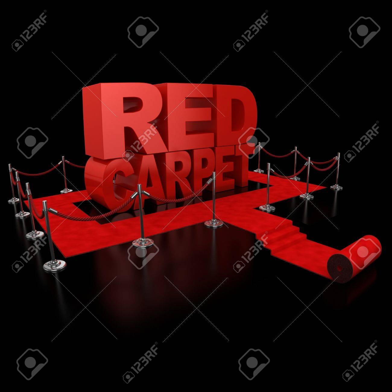 red carpet 3d illustration over over background Stock Photo - 12558267
