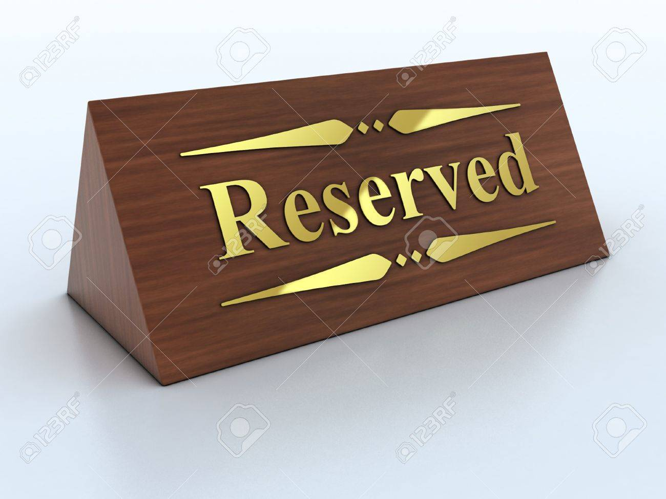 Illustration of reservation sign with golden letters Stock Photo - 12558294